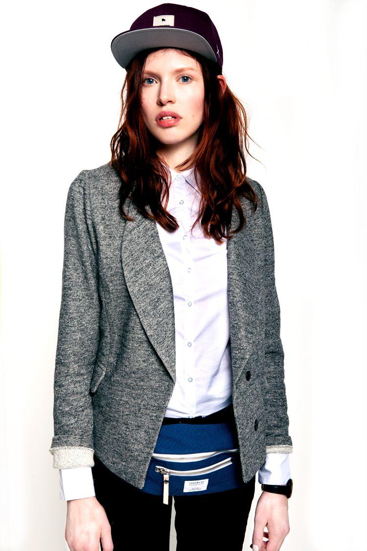 shirt, jacket, hat w/ fanny pack