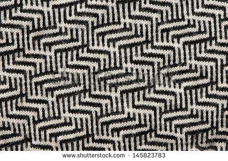 hand knit wool zigzag pattern texture black white backdrop ...