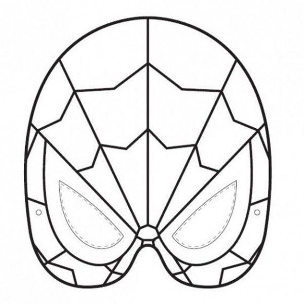 mascaras hombre araña para imprimir - Buscar con Google | Hombre ...