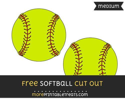 photograph regarding Printable Softball named Totally free Softball Minimize Out - Medium Sizing Printable Baseball