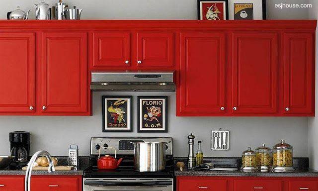 Pintura de los gabinetes de cocina. | ARQUITECTURA de CASAS | Cocina ...