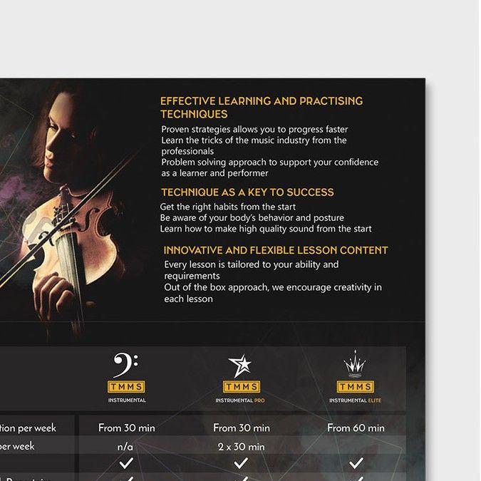 Design a trifold brochure for a Music School by Renatta Rafaella - music brochure