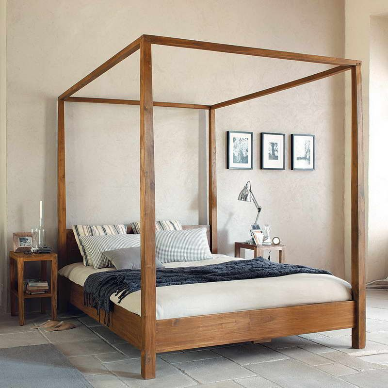 Contemporary Canopy Bed Bring the Fantastic Ambiance With Floor Tiles & Contemporary Canopy Bed Bring the Fantastic Ambiance With Floor ...