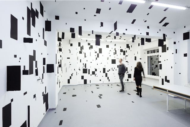 Geometric Rooms by Italian installation artist Esther Stocker.