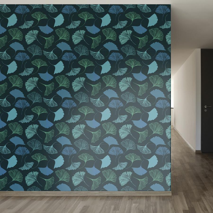 Magic Ginkgo Leaf Wallpaper Wall Wallpaper Temporary Wallpaper