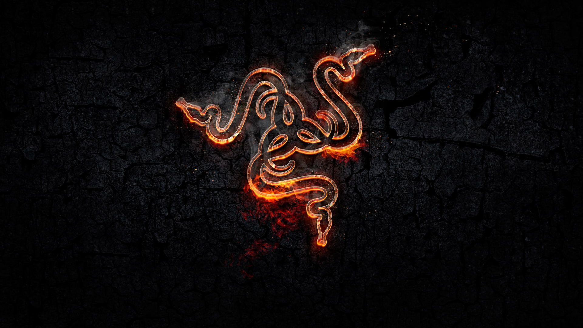 Razer Inc Razer Logo Snake Gaming Series Orange 1080p Wallpaper Hdwallpaper Desktop Black Phone Wallpaper 4k Gaming Wallpaper Razer