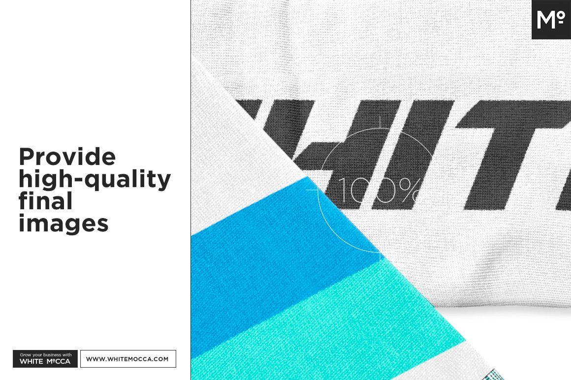 Download Sport Fan Scarf Mock Up Brochure Design Template Mocking Mockup