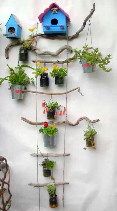 Inspirado para jardines peque os decoraci n exterior y for Decoracion jardin pequeno reciclado