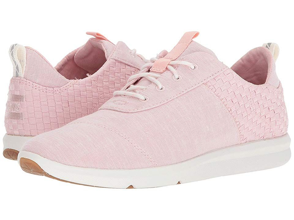 TOMS Cabrillo Blossom Slub ChambrayBasket Weave Womens Lace up casual Shoes With every pair of shoes you purchase TOMS will give a new pair of shoes to a child in need On...