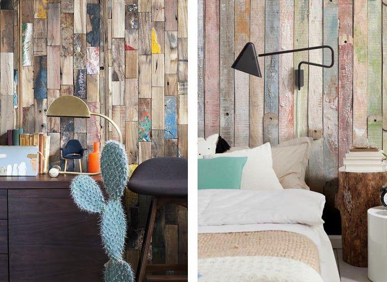 Paredes madera reciclada texturas cerramientos pisos - Cabecero madera reciclada ...