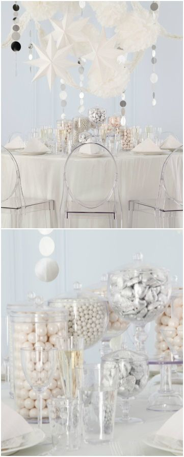 White And Silver Colored Confections Decorations In White Are