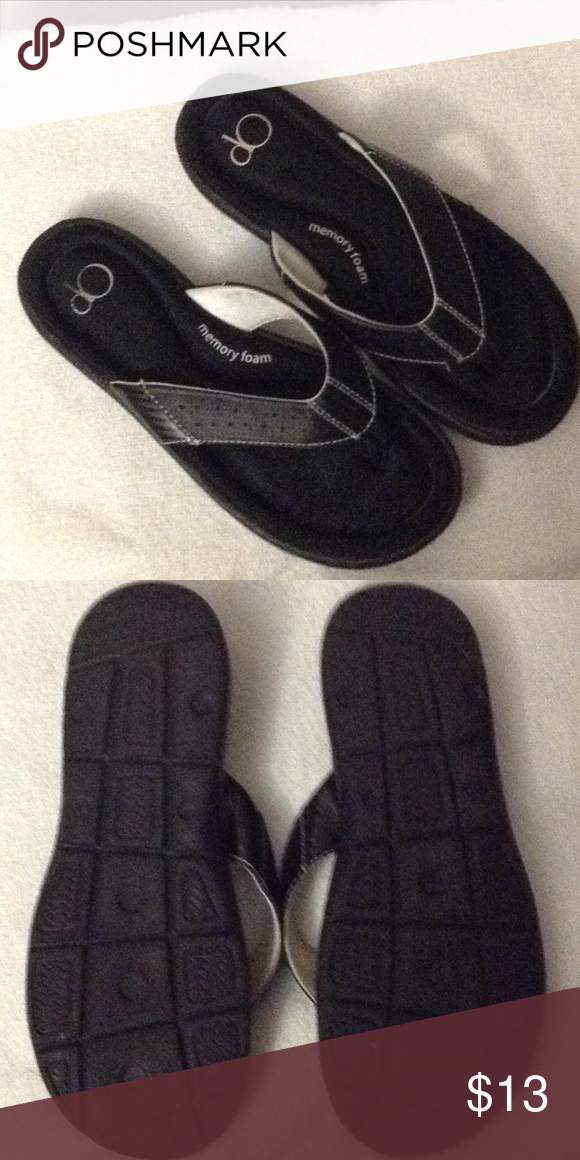 062f2ca8fb1 Women s black OP sandals size 7 8 Women s black sandals in great hardly  worn. Very comfortable with memory foam op Shoes Sandals