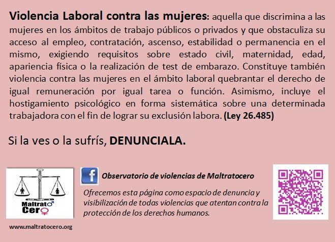 Violencia Laboral contra las mujeres