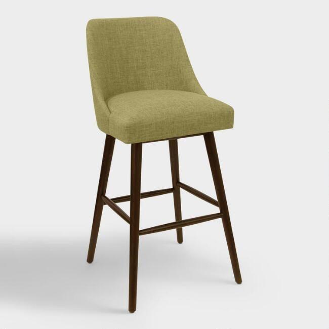 modern kitchen stools quartz countertops linen blend kian upholstered barstool v1 furniture pinterest wasabi dining room sets contemporary