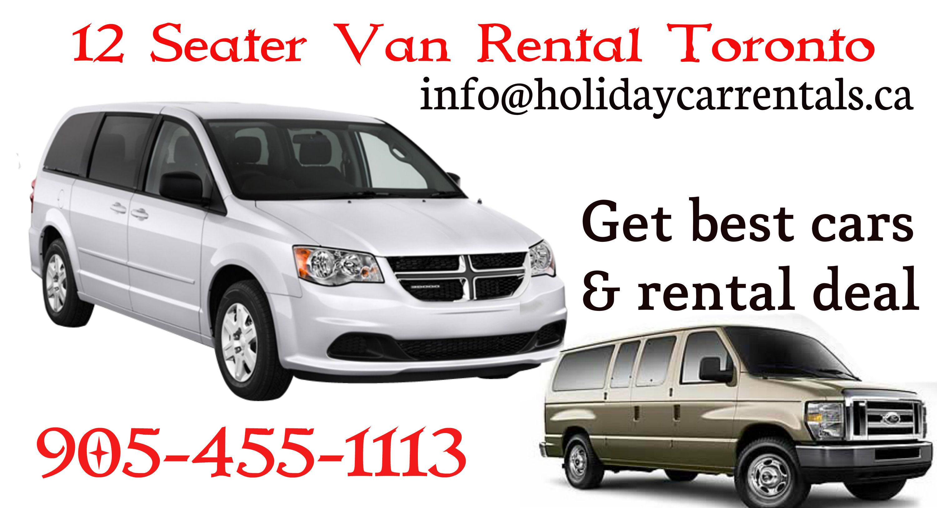 Mississuaga Brampton Car Rental Services 12 8 7 Seater Passenger Van Car Rental Service 12 Passenger Van Rental