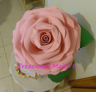 Fofuchas Manualidades Y Creaciones Maite Flor Gigante En Goma Eva