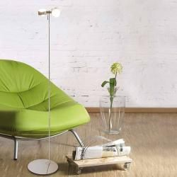Photo of Top Light Puk Floor Mini Twin Stehleuchte chrommatt 2x Linse klar / 2x Linse matt Standard-Fassung T