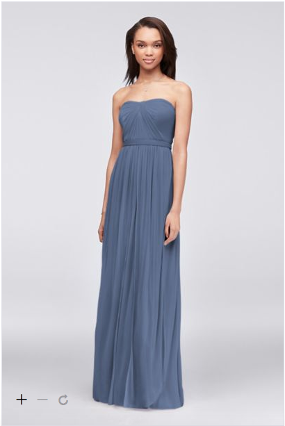 David S Bridal Versa Steel Blue Http Www Davidsbridal Product Bridesmaid Dresses Under 100convertible