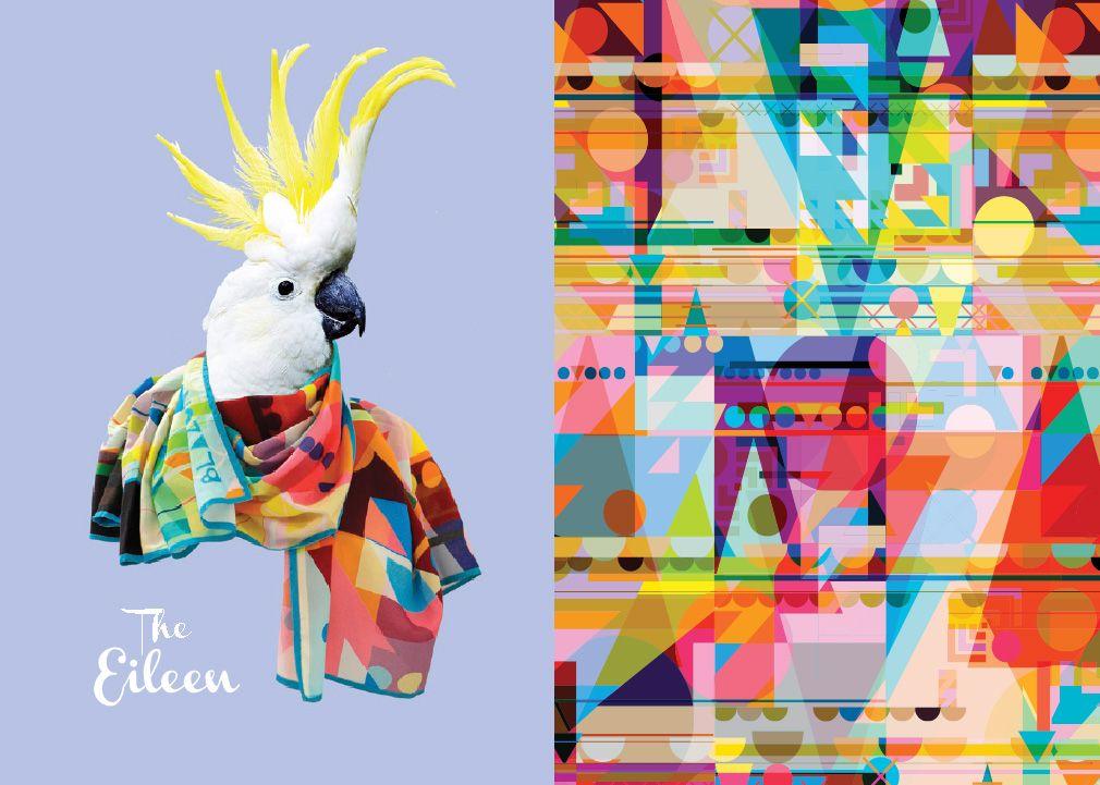 讓這些鳥兒告訴你絲巾有多美!英國絲巾品牌Blazon的創意廣告 | Graphic patterns, Textures patterns, Graphic