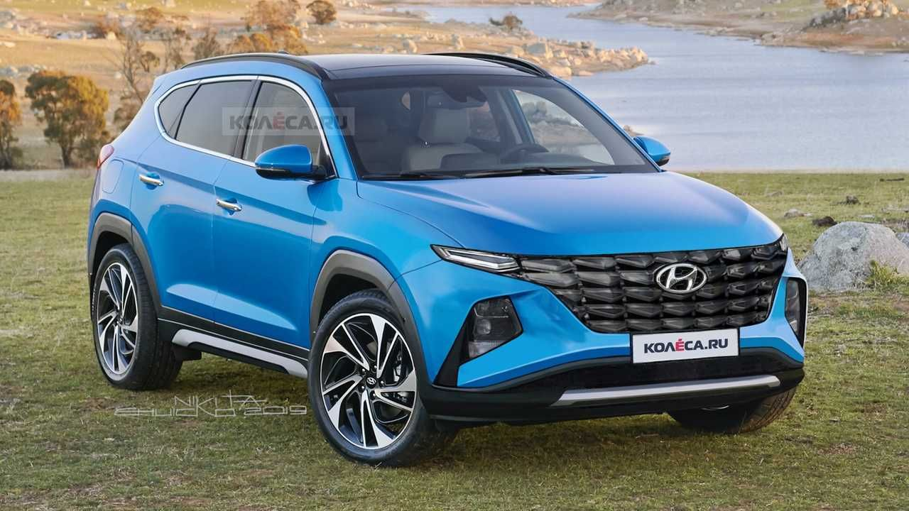 2021 Hyundai Tucson Rendered Primarily Based On Spy Photographs Has Funky Face Hyundai Suv Hyundai Tucson New Hyundai