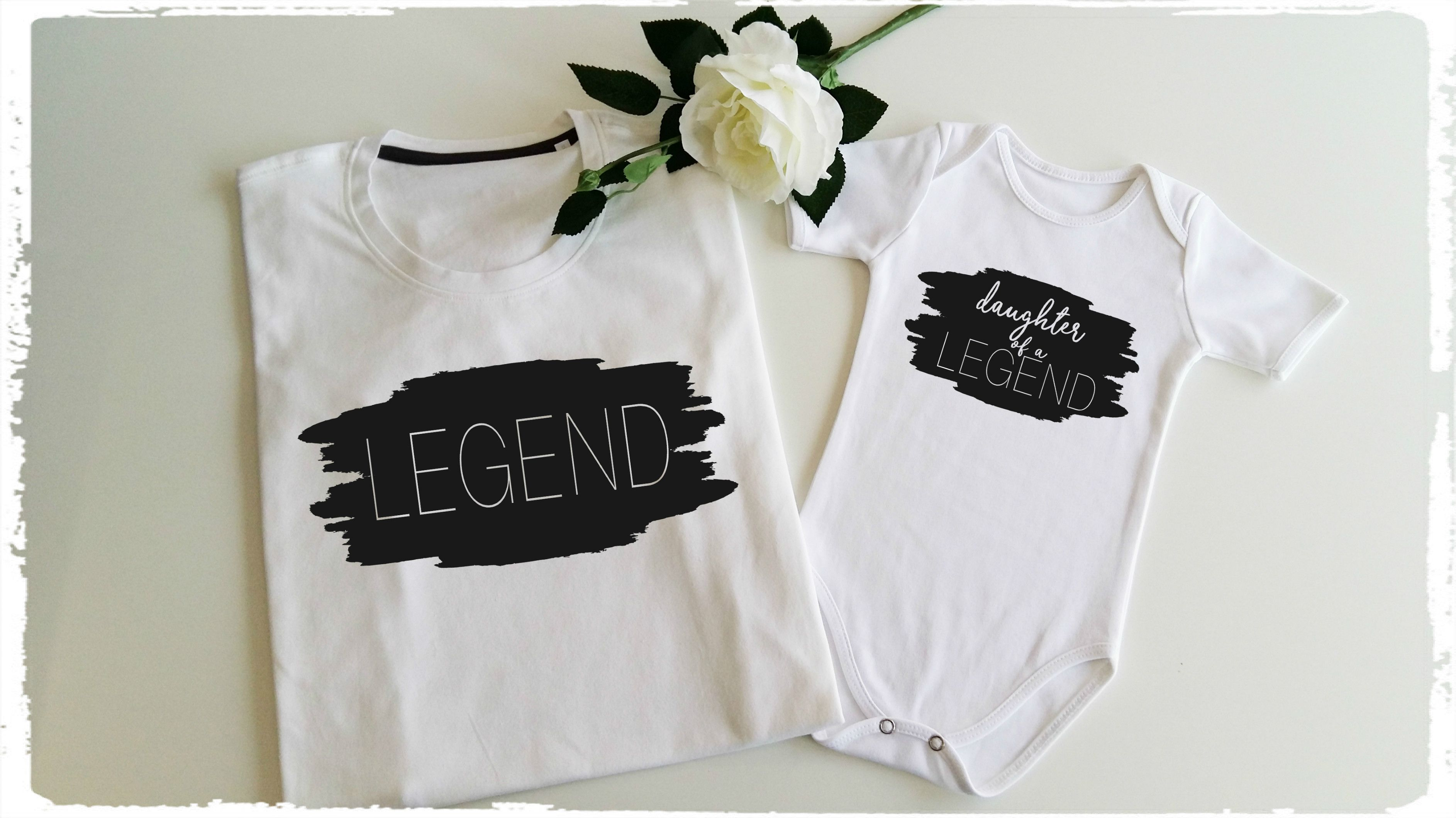 86f89be0c LEGEND and DAUGHTER of a LEGEND shirts, Father and Daughter matching outfits,  dad and baby shirts, matching daddy and me outfit; fathers day gift idea,  ...