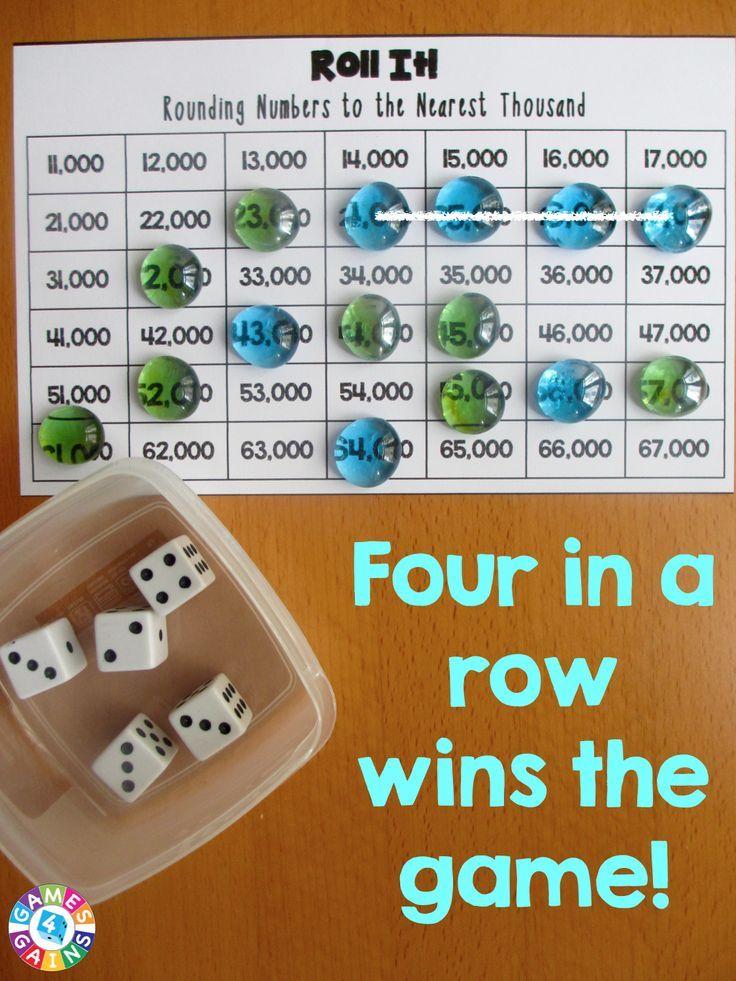 Roll It! Rounding Game Rounding games, Math night, 4th