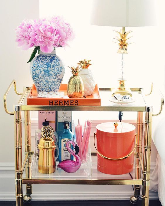 Trend Shake 40 Indigo Home Décor Ideas: Bars, Carts And Drink Displays In 2019