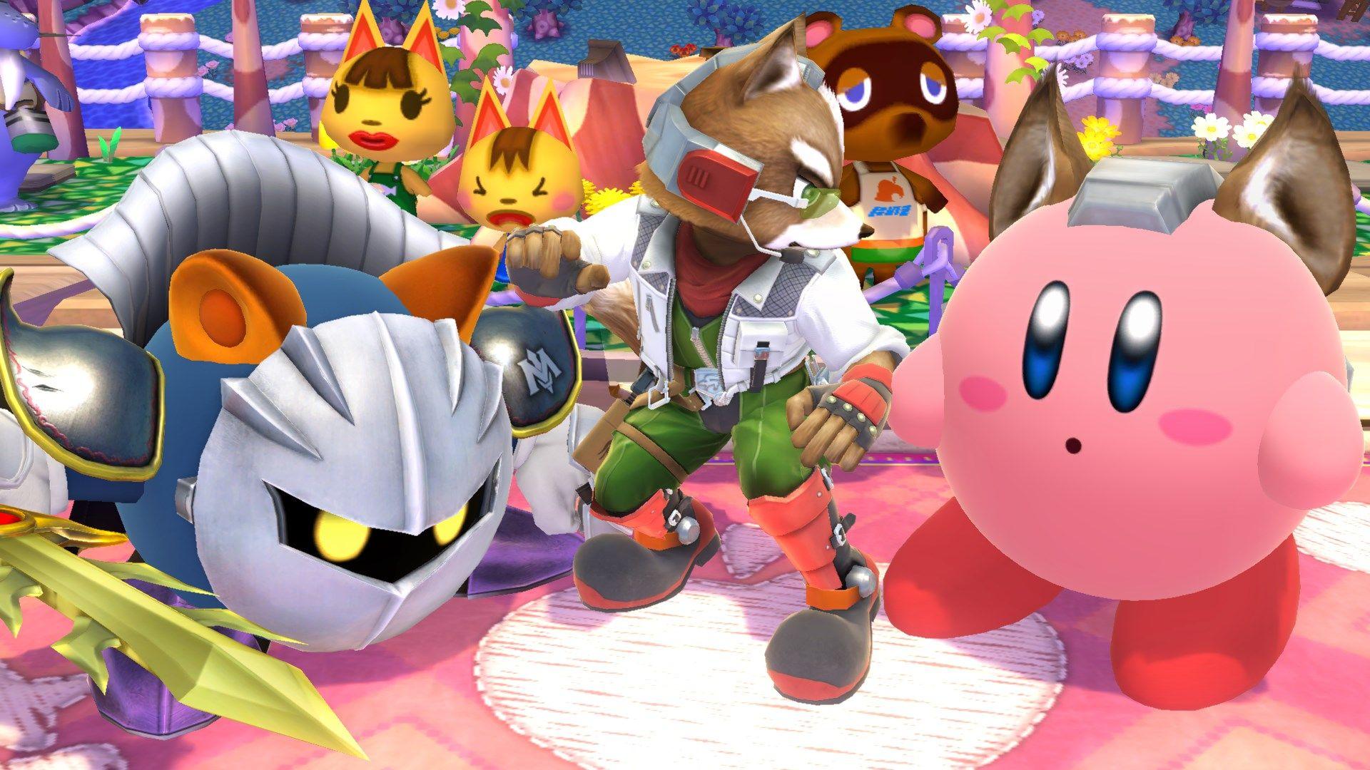 Kirby, Fox and Meta Knight - Super Smash Bros, Wii U   vocaloid ...