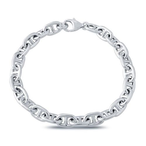 Silver-Sterling-925-Bracelet-Wide-Big-Chain-Fashion-Spark-Gift-Box
