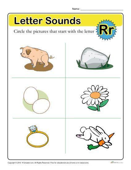 Letter Sounds: R Preschool Letter Worksheet Letter Worksheets For  Preschool, Letter Sounds, Letter Sounds Preschool