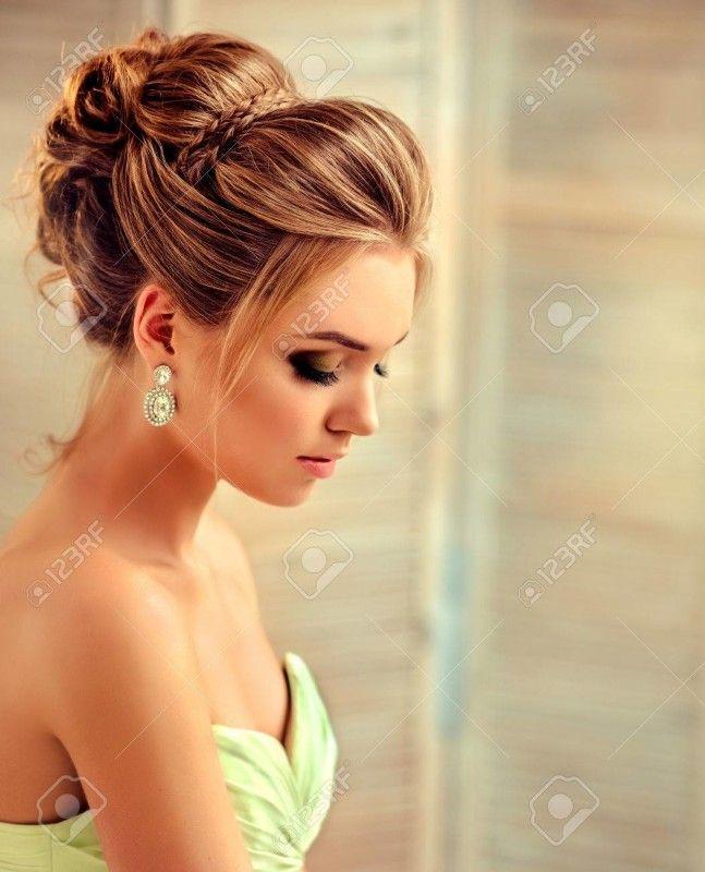 Frisur für Hochzeit – Elegante Brautfrisur mit Locken #mediumupdohairstyles