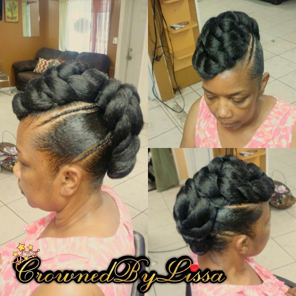 Quick Braid Updo Hair Included Natural Hair Braids Natural Hair Styles African Braids Hairstyles