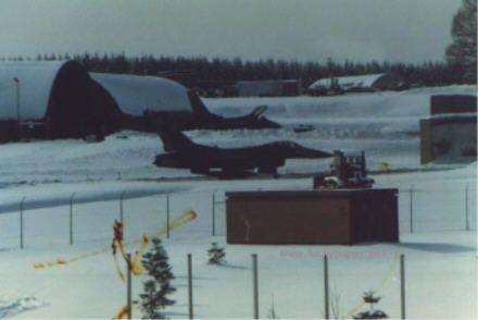 Hahn AB F-16 Tab Vee's in winter