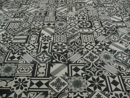 Portugese Tegels Patchwork : Portugese tegels cementtegels patchwork black white keuken
