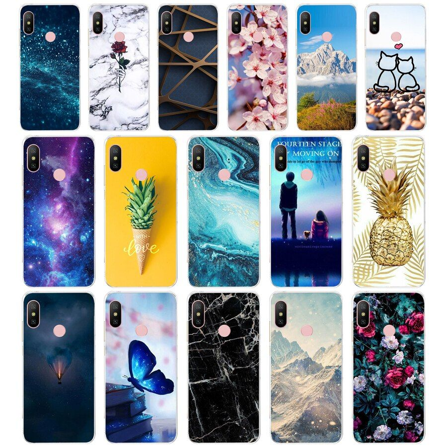 N Silicone Cover For Xiaomi Mi A2 Lite Case Full Protection Soft Tpu Back Cover Phone Cases For Xiomi Mi A2 Lite B Phone Covers Silicone Cover Phone Case Cover