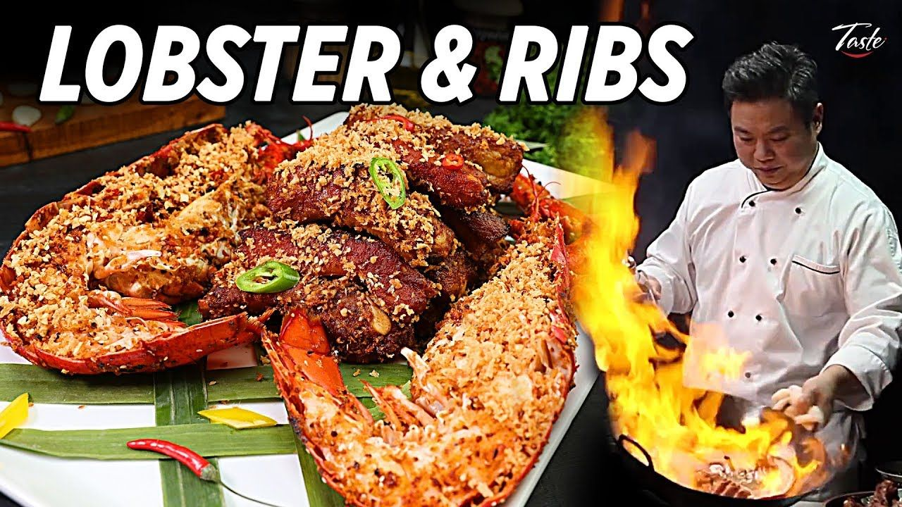 Lobster And Ribs In Hong Kong Style By Masterchef Taste The Chinese Recipes Show Youtube Food Shows Chinese Cooking Best Chinese Food