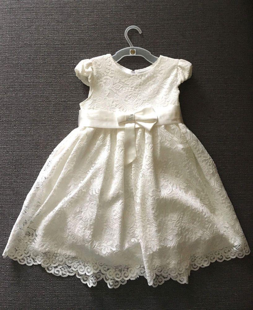Details zu Mädchen Kleid Blumenmädchen Kommunionkleid Hochzeit ...