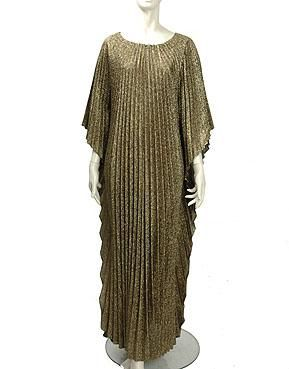 Vintage 1970s Egyptian Art Deco Inspired Caftan Dress