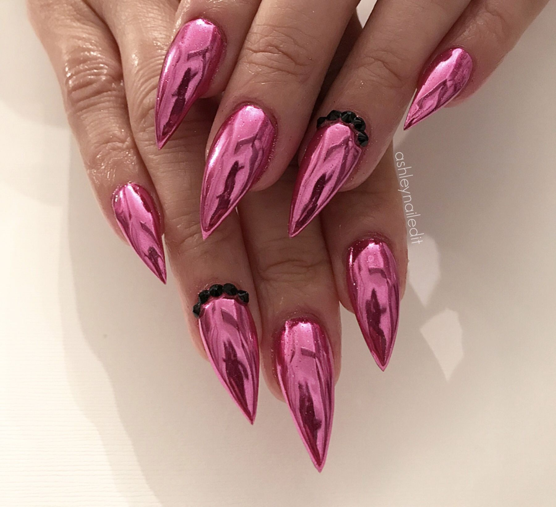 2018 pink chrome designs - nails by @ashleynailedit | Nails ...