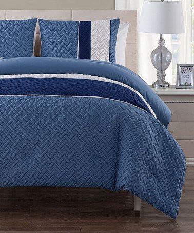 Look at this #zulilyfind! Surf Edgemont Embossed Comforter Set #zulilyfinds