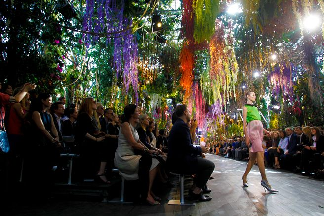 Atmosphere Photos From the Spring 2014 Collections of Chanel, Saint Laurent, Valentino, and More