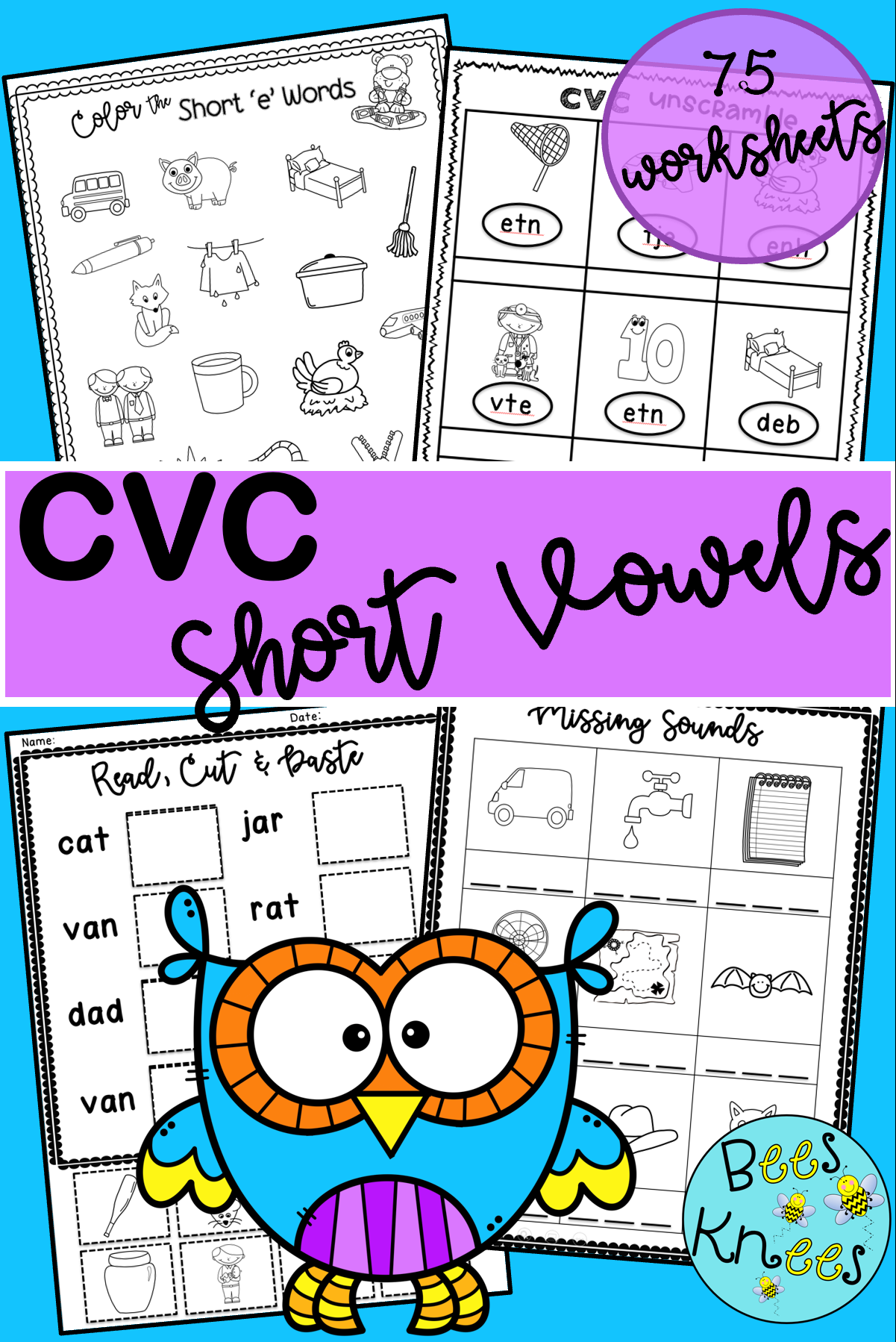 Cvc Short Vowel Worksheets In