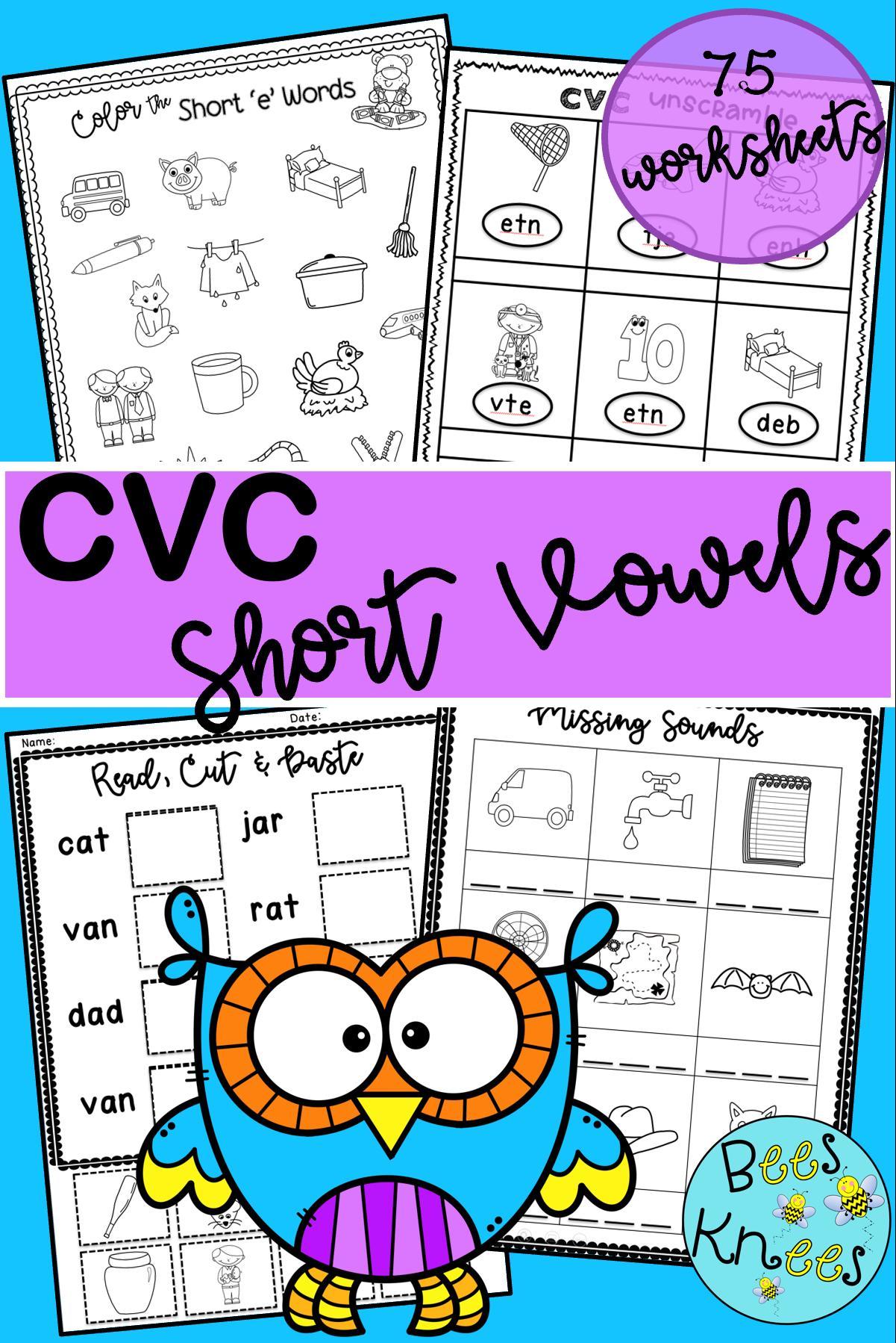 Cvc Short Vowel Worksheets In