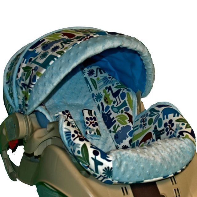 Graco Snugride Replacement Infant Car Seat Cover- Blue Zoo-. $85.00 ...