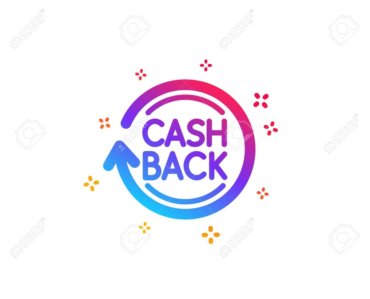cashback service icon money transfer sign rotation arrow symbol dynamic shapes gradient design cashback icon cl in 2020 gradient design arrow symbol menu template cashback service icon money transfer