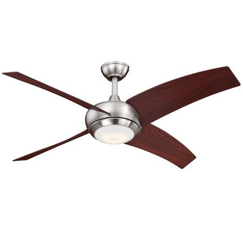 turn of the century ridge 48 in satin nickel led ceiling fan lighting fans hampton bay rockport
