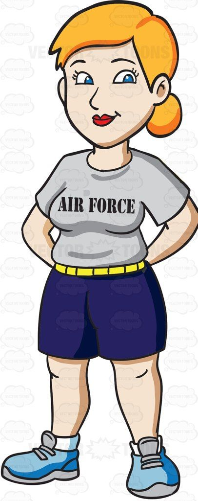 A Female Air Force Trainee Wearing A Physical Training