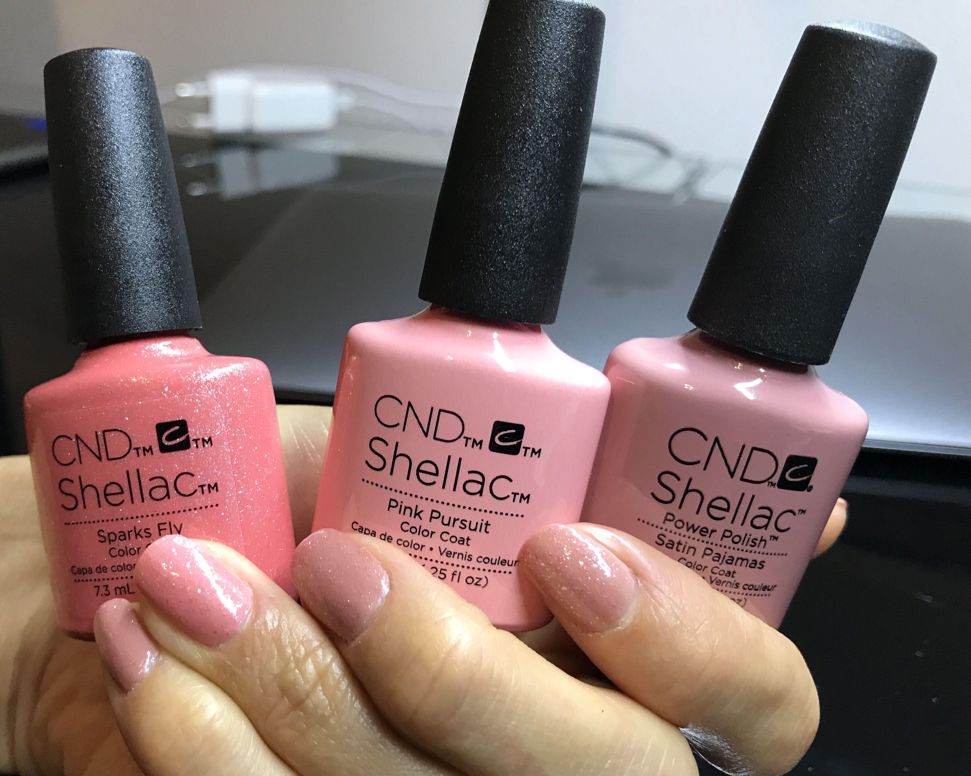Cnd Shellac Sparks Fly Pink Pursuit Satin Pajamas Gel Nail Colors Shellac Cnd Shellac