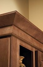 Shaker Crown Molding For Homecrest Aspen Cabinets Kitchen