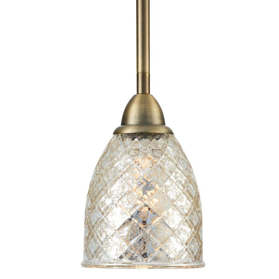 Mercury glass light fixtures - Pendant Lights